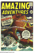 Silver Age (1956-1969):Horror, Amazing Adventures #6 (Marvel, 1961) Condition: VG+. Jack Kirby,Steve Ditko art. Overstreet 2003 VG 4.0 value = $84....