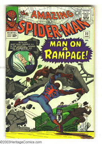 Amazing Spider-Man #32 (Marvel, 1966) Condition: VG+. Steve Ditko cover and art. Overstreet 2003 VG 4.0 value = $44. Fro...