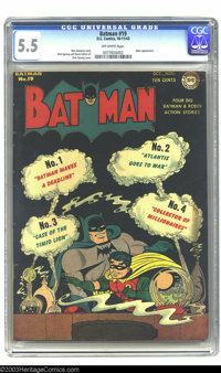 Batman #19 (DC, 1943) CGC FN- 5.5 Off-white pages. Joker appearance. Dick Sprang cover and art. Overstreet 2003 FN 6.0 v...