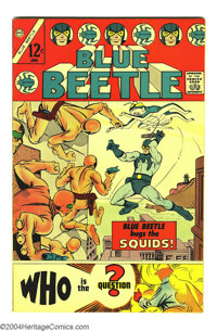 Blue Beetle #1 (Charlton, 1967) Condition: VF/NM. Steve Ditko art. Question appearance. Overstreet 2003 VF/NM 9.0 value...