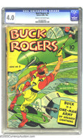 Golden Age (1938-1955):Adventure, Buck Rogers #4 (Eastern Color, 1942) CGC VG 4.0 Cream to off-white pages. Overstreet 2003 VG 4.0 value = $222....