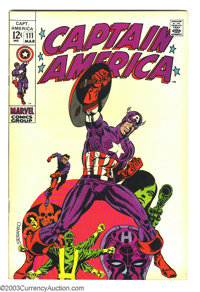 Captain America #111 (Marvel, 1969) Condition: VF+. Death of Steve Rogers. Jim Steranko cover and interior art. Overstre...