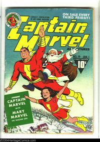 Captain Marvel Adventures #19 (Fawcett, 1943) Condition: VG/FN. Christmas cover with Santa Claus and Mary Marvel. Overst...