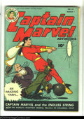 Golden Age (1938-1955):Science Fiction, Captain Marvel Adventures #55 (Fawcett, 1946) Condition: FN. Theworld's mightiest mortal travels to Columbus, Ohio. Overstr...