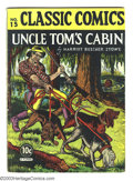 "Golden Age (1938-1955):Classics Illustrated, Classic Comics #15 ""Uncle Tom's Cabin"" (Gilberton, 1943) Condition:VG. HRN 14. Overstreet 2003 VG 4.0 value =$132. ..."