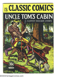 """Classic Comics #15 """"Uncle Tom's Cabin"""" (Gilberton, 1943) Condition: VG. HRN 14. Overstreet 2003 VG 4.0 value =..."""