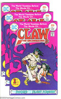 Bronze Age (1970-1979):Miscellaneous, Claw the Unconquered #1-8 Group (DC, 1975-76) Condition: AverageVF/NM. Includes the first eight issues, with three copies o...(Total: 15 Comic Books Item)