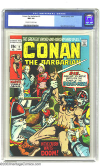 Conan The Barbarian #2 (Marvel, 1970) CGC NM 9.4 Off-white to white pages. Barry Windsor-Smith cover and interior art. O...