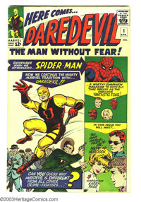 Daredevil #1 (Marvel, 1964) Condition: VG+. Origin and first appearance of Daredevil. First appearance of Karen Page and...