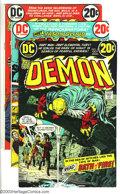 Bronze Age (1970-1979):Miscellaneous, DC Bronze Group (DC, 1972-78) Condition: Average VF. Nice mixincludes The Demon #2, 3, 4 (Jack Kirby scripts and art); ...(Total: 8 Comic Books Item)