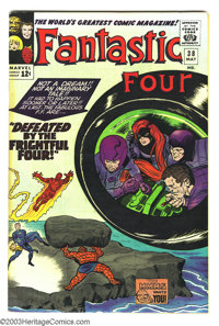 Fantastic Four #38 (Marvel, 1965) Condition: VF. Frightful Four appearance. Jack Kirby cover and interior art. Overstree...