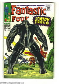 Fantastic Four #64 (Marvel, 1967) Condition: VF+. Jack Kirby cover and interior art. Overstreet 2003 VF 8.0 value = $42;...