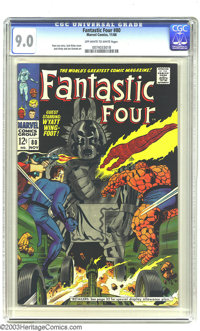 Fantastic Four #80 (Marvel, 1968) CGC VF/NM 9.0 Off-white to white pages. Jack Kirby cover art. Kirby and Joe Sinnott in...