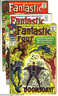 Fantastic Four Group (Marvel, 1966) Condition: FN+. This lot consists of four comics, #59, 60, 62, and 63. Appearances i...
