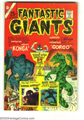 Silver Age (1956-1969):Horror, Fantastic Giants #24 (Charlton, 1966) Condition: VF+. Origin ofKonga and Gorgo reprinted plus two new Steve Ditko stories. ...