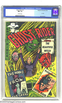 Ghost Rider #11 (Magazine Enterprises, 1953) CGC NM- 9.2 Off-white pages. Dick Ayers art. Overstreet 2003 NM 9.4 value =...