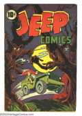 Jeep Comics #1 (Leffingwell, 1944) Condition: VG+. Captain Power, Criss Cross, Jeep and Peep begin. Overstreet 2003 VG 4...