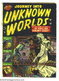 Golden Age (1938-1955):Horror, Journey into Unknown Worlds #9 (Atlas, 1952) Condition: GD. Gianteyeball story. Overstreet 2003 GD 2.0 value = $65....