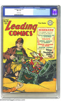 Golden Age (1938-1955):Superhero, Leading Comics #10 (DC, 1944) CGC FN+ 6.5 Off-white pages. Features Green Arrow and Speedy, the Shining Knight, Star-Spangle...