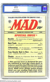 Mad #12 (EC, 1954) CGC VF+ 8.5 Off-white to white pages. Wally Wood, Jack Davis, and Bernie Krigstein artwork. Archie pa...