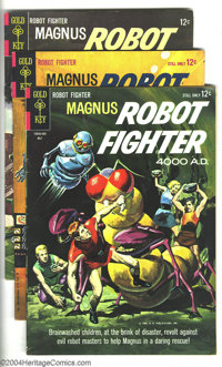 Magnus Robot Fighter Group (Gold Key, 1964-75). Twenty-one issues in this lot to jump start a Magnus collection: #6 (VG+...