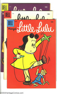 Marge's Little Lulu #93-98 Group (Dell, 1956). This lot consists of issues #93 (VF/NM); 94 (VF/NM); 95 (VF/NM); 96 (VF+)...