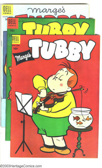 Marge's Tubby Group (Dell, 1954-58). This lot consists of 18 comics, #8 (VF-); 10 (VF); 11 (FN); 13 (FN+); 14 (VF-); 15...