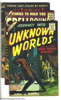 Miscellaneous Horror Comics Group (Various, 1953-57). This lot consists of Journey Into Unknown Worlds #57 (VG/FN); Sp...