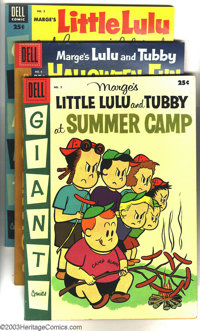 Little LuLu and Tubby Miscellaneous Group (Dell, 1954-57). This lot consists of six comics, #5 Little LuLu and Tubby at...