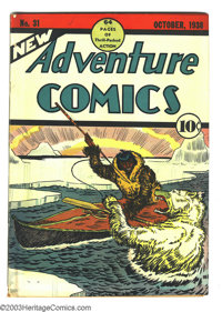 """New Adventure Comics #31 (DC, 1938) Condition: GD+. This last issue (before DC dropped """"New"""") features an Eski..."""