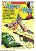 Silver Age (1956-1969):War, Our Army at War #128 (DC, 1963) Condition: VG. Training and origin of Sgt. Rock. First Sgt. Krupp. Joe Kubert art. Overstree...