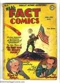 Golden Age (1938-1955):Non-Fiction, Real Fact Comics #6 (DC, 1947) Condition: PR. Flag cover. Firstappearance of Tommy Tomorrow. First published writing by Har...