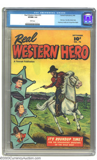 Real Western Hero #70 (Fawcett, 1948) CGC VF/NM 9.0 White pages. Overstreet considers this to be the first issue. Tom Mi...