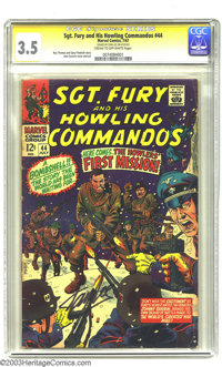Sgt. Fury and His Howling Commandos #44 (Marvel, 1967) CGC VG- 3.5 Cream to off-white pages. Signature series. John Seve...