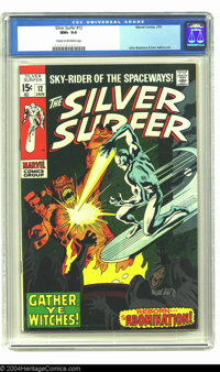 The Silver Surfer #12 (Marvel, 1970) CGC NM+ 9.6 Cream to off-white pages. This gorgeous copy is about as good as it get...
