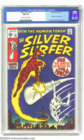 Bronze Age (1970-1979):Superhero, The Silver Surfer #15 (Marvel, 1970) CGC NM 9.4 Off-white to white pages. Fantastic Four appearance. John Buscema and Dan Ad...