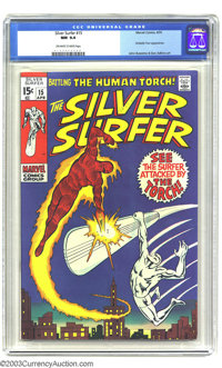 The Silver Surfer #15 (Marvel, 1970) CGC NM 9.4 Off-white to white pages. Fantastic Four appearance. John Buscema and Da...