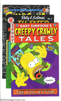 Simpsons Comics Group (Bongo Comics Group, 1993-94) Condition: NM. This great lot of 17 includes Simpsons Comics #1-5;...