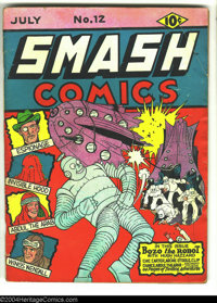 Smash Comics #12 (Quality, 1940) Condition: GD/VG. Bozo the Robot cover. Overstreet 2003 GD 2.0 value = $55; VG 4.0 valu...