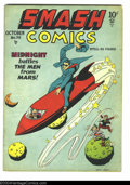 Golden Age (1938-1955):Superhero, Smash Comics #79 (Quality, 1948) Condition: VG-. Starring Midnight, Lady Luck, the Jester, and more. Jack Cole cover. Overst...