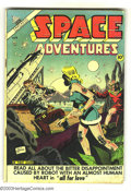 Golden Age (1938-1955):Science Fiction, Space Adventures #8 (Charlton, 1953) Condition: GD/VG. Robot cover.Dick Giordano cover art. Water stains. Overstreet 2003 G...
