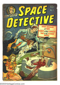 "Golden Age (1938-1955):Science Fiction, Space Detective #1 (Avon, 1951) Condition: GD. Wally Wood art.""Opium Smugglers of Venus"" drug story. Overstreet 2003 GD 2.0..."