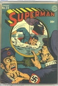 Golden Age (1938-1955):Superhero, Superman #23 (DC, 1943) CGC VG/FN 5.0 Off-white to white pages. Classic World War II periscope cover. Jack Burnley cover, Jo...