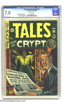 Tales From the Crypt #21 (EC, 1951) CGC FN/VF 7.0 Off-white pages. Al Feldstein story and cover art. Feldstein, Wally Wo...