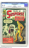 Silver Age (1956-1969):Superhero, Tales of Suspense #45 (Marvel, 1963) CGC VF+ 8.5 White pages. First appearances of Happy Hogan and Pepper Potts. Overstreet ...
