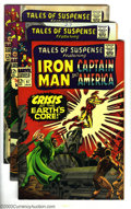 Silver Age (1956-1969):Science Fiction, Tales of Suspense Group Captain America and Iron Man (Marvel, 1967) Condition: FN/VF. This lot consists of five comics, # 87... (Total: 5 Comic Books Item)