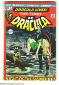 Bronze Age (1970-1979):Horror, Tomb of Dracula #1 (Marvel, 1972) Condition: FN. First appearanceof Dracula and Frank Drake. Neal Adams cover, with Gene Co...