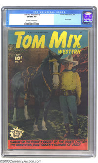 Tom Mix Western #19 (Fawcett, 1949) CGC VF/NM 9.0 Off-white to white pages. Photo cover. Highest-graded copy yet certifi...