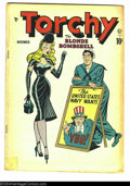 "Golden Age (1938-1955):Miscellaneous, Torchy #1 (Quality, 1949) Condition: GD. ""Good girl"" comic. Bill Ward cover, Gill Fox art. Brittle at top of spine on pages...."