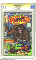 Bronze Age (1970-1979):Horror, Weird Wonder Tales #21 (Marvel, 1977) CGC VG 4.0 Cream to off-whitepages. Signature series. 1950s and 1960s reprints. Ernie...